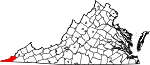 State map highlighting Lee County