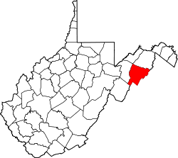 Map of West Virginia highlighting Hardy County.svg