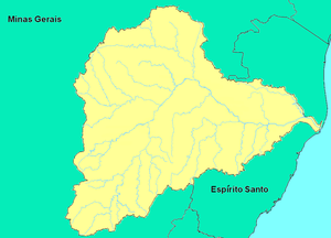 Doce River - Map showing the Doce River basin