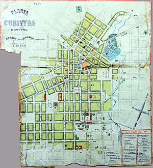 Curitiba - Map of Curitiba in 1894 (Portuguese edition).