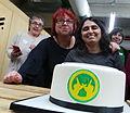 María Sefidari y Montserrat Boix Wikimujeres celebrando el 15 aniversario de Wikipedia (cropped).jpg