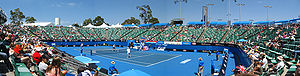 Australian Open - Panorama of Margaret Court Arena during the 2008 Australian Open