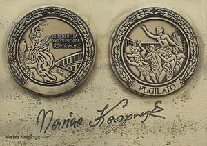 Marian Kasprzyk - Image: Marian Kasprzyk medal and autograph