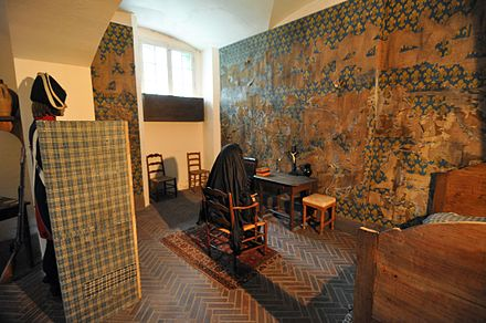 Marie Antoinette's cell in the Conciergerie where she was allowed no privacy. Marie Antoinette's Cell at Conciergerie.jpg