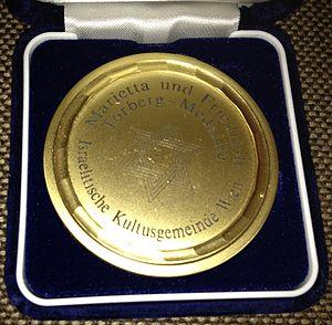 Marietta and Friedrich Torberg Medal - Marietta and Friedrich Torberg Medal