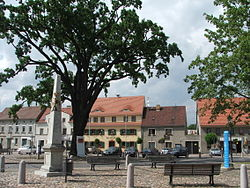 Market square in Uebigau