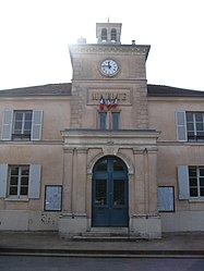 The front of the town hall of Marnes-la-Coquette