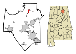 Location in Quận Marshall, Alabama