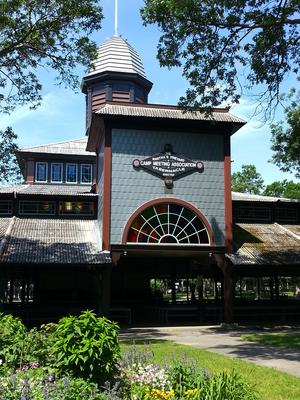 Wesleyan Grove - Martha's Vineyard Campground Tabernacle, at the heart of the Wesleyan Grove in Oak Bluffs