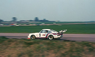 Silverstone Circuit - Jochen Mass (Martini Racing Porsche 935) during the 1976 Silverstone Six-Hours