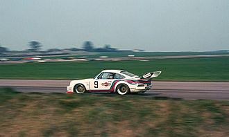 Silverstone Circuit - Jochen Mass (Martini Racing Porsche 935) during the 1976 Silverstone Six-Hours
