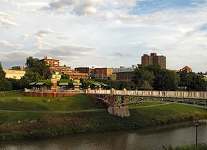 Maryville, Tennessee - Skyline with Greenbelt Park below