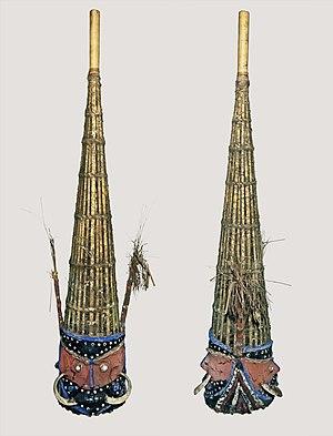Culture of Vanuatu - Funeral masks, Malakula Island nineteenth century MHNT