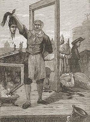 Giovanni Battista Bugatti - Mastro Titta holding the head of an executed woman