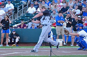 Triple-A All-Star Game - Matt Davidson, who won the 2013 Triple-A Home Run Derby, hitting in the 2015 contest