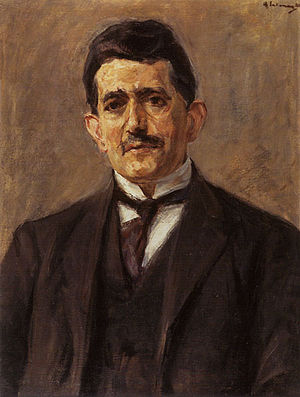 Bruno Cassirer - Max Liebermann, Portrait of Bruno Cassirer, 1921