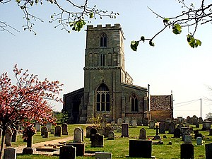 Maxey, Cambridgeshire - Image: Maxey Church geograph.org.uk 161800