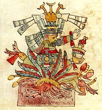Pulque - Depiction of the goddess Mayahuel