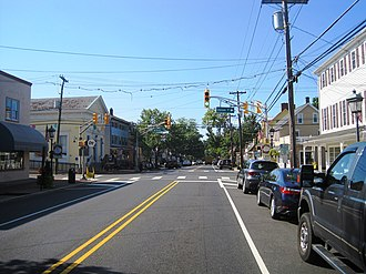 Medford, New Jersey - Downtown Medford at Main Street (CR 541) and Union Street