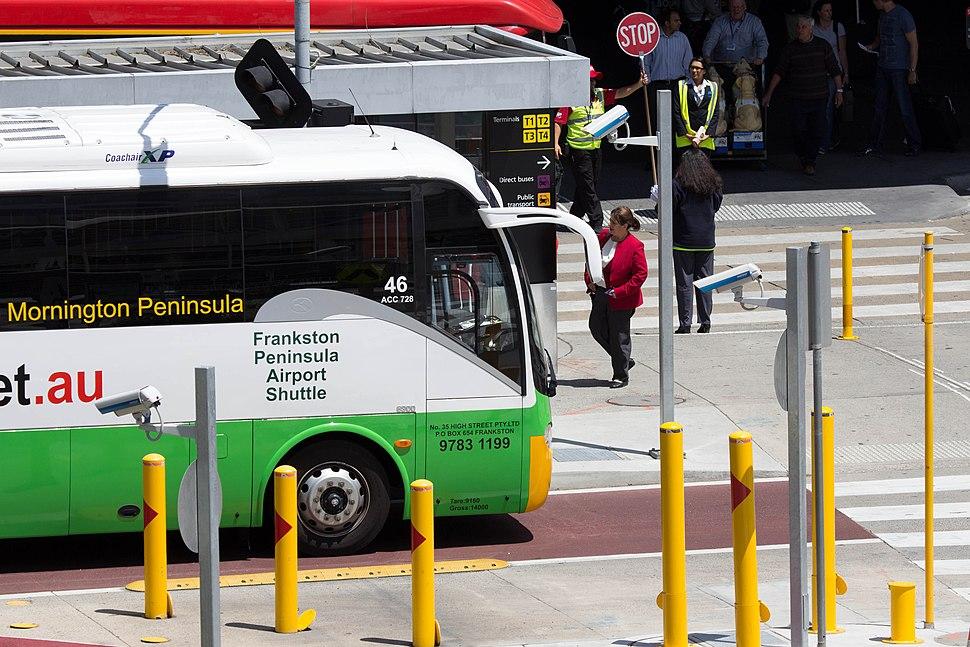 Melbourne Airport Bus forecourt using ANPR