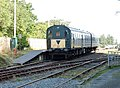 Meldon Viaduct Station and train, Dartmoor Railway, Okehampton, Devon.jpg