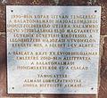 Memorial plaque of the circumnavigation by István Kopár in Balatonalmádi.jpg