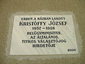József Kristóffy