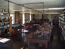 Replica of Edison's lab where he invented the first commercially practical light bulb.  Henry Ford, Edison's longtime friend, built it at the Henry Ford Museum in Michigan.