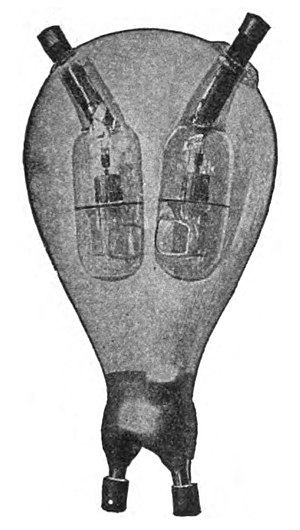 Mercury-arc valve - One of the first mercury arc bulbs built by Cooper Hewitt