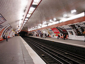 Père Lachaise (Paris Métro) - Image: Metro de Paris Ligne 2 Pere Lachaise 01