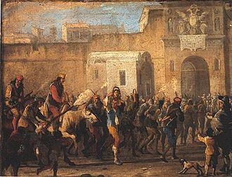 Seicento - The 1647 revolt against high taxation in Naples, led and triggered by rebel Masaniello.