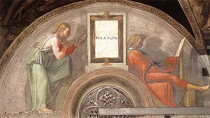 Nahshon - Lunette depicting Nahshon in the Sistine Chapel.