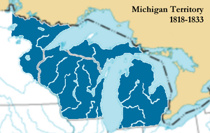 Illinois Territory - Between 1818 and 1833, after Illinois became a state, the unincorporated land from the territory, plus a handful of other townships, was made part of Michigan Territory.