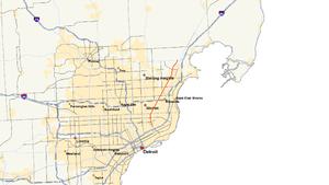 M-97 (Michigan highway) - Image: Michigan 97 map