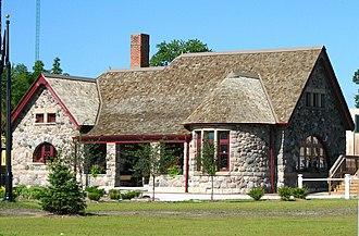 Arenac County, Michigan - Image: Michigan Central Railroad Depot Standish Michigan