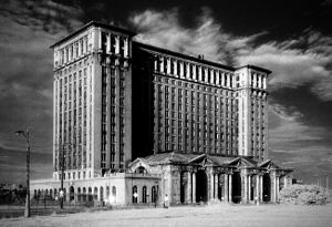 History of railroads in Michigan - Detroit's Michigan Central Station, built in 1913, is a prominent example of the beaux arts style