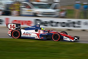 Mike Conway - Mike Conway driving his car in the 2012 Detroit Grand Prix.