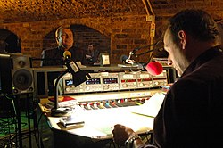 Mike McGear on the Mark Radcliffe Show at The Cavern, Liverpool (82088858).jpg