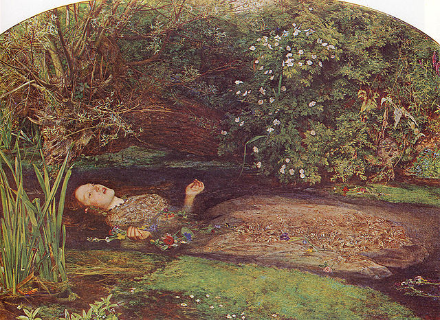 Ophelia, amoureuse secrète du prince Hamlet - peinture de Millais à la Tate Britain à Londres