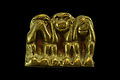 Miniature brass sculpture of three monkeys.jpg
