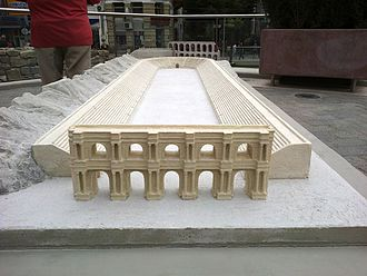 Plovdiv Roman Stadium - Model of the full size of stadium