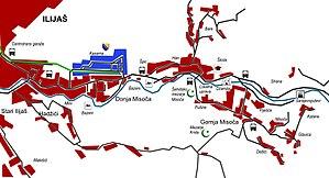 Misoča - Map of Misoča