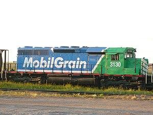 Last Mountain Railway - Image: Mobile Grain Locomotive 3130