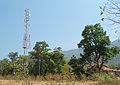 Mobile communication tower in Western ghats near Kollur.jpg