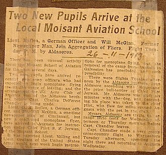 Aldasoro brothers - Newspaper article from February 1913 describing the arrival of the Aldasoro Brothers at the Moisant Aviation School