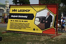 Mojmír Stránský poster at Legendy 2018 in Prague.jpg