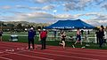 Molly running her first 3k as a freshman with the Tigard High School Track Team. The meet was in Newberg. (33604929205).JPG