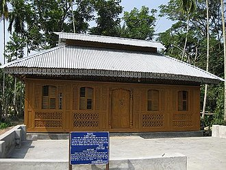 Architecture of Bengal - A wooden bungalow which serves as Momin Mosque since 1920
