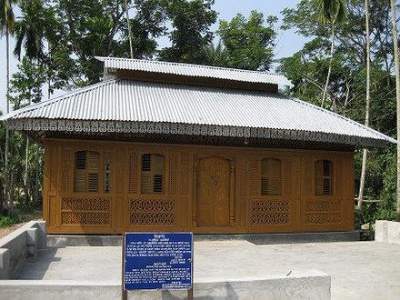 Bungalows originated from Bengali architecture Momin Mosque after restoration.jpg