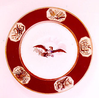 White House china - The Monroe china was the first created specifically for an American president.